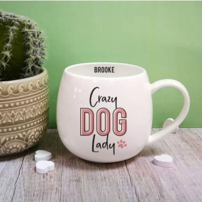 Personalised Crazy Dog Lady Mug