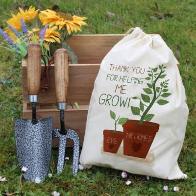 Personalised Helping Me To Grow Garden Tool Set