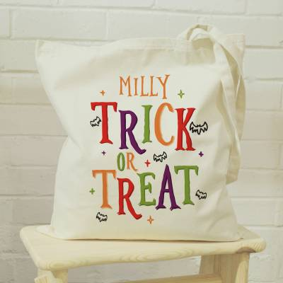 Personalised Trick or Treat Halloween Bag