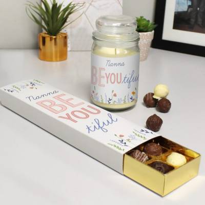 Personalised Be You Tiful Chocolates and Candle
