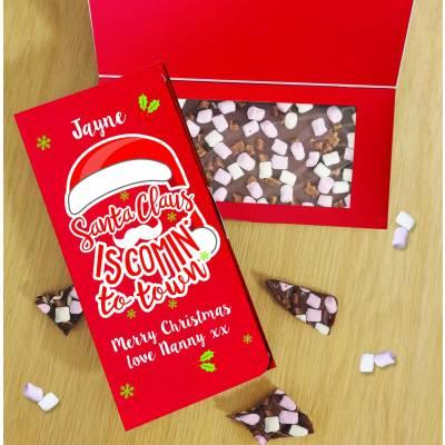 Personalised Santa Claus Milk Chocolate Card