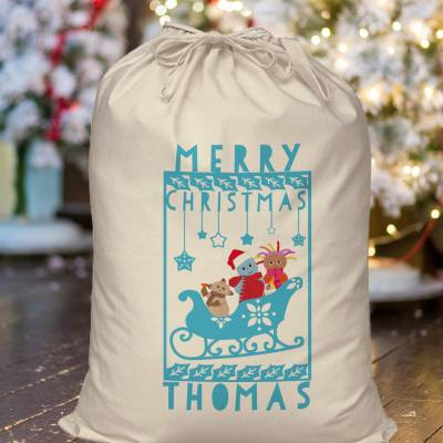 Personalised In The Night Garden Christmas Sack