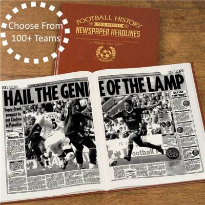 Personalised Football Team Newspaper Book