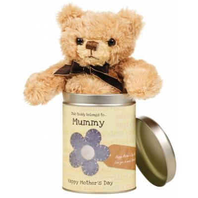 Personalised Mothers Day Teddy in a Tin