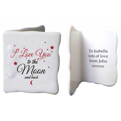 Personalised To the Moon & Back Ceramic Card