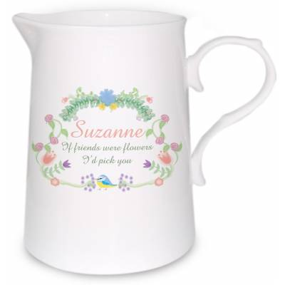 Personalised Spring Garden Farmhouse Jug