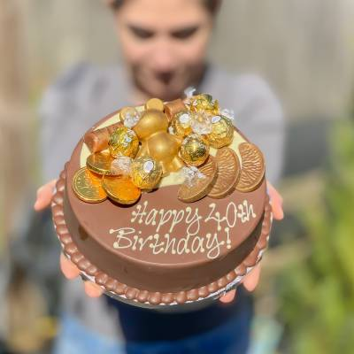 Gold Christmas Smash Cake