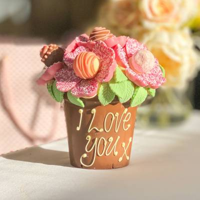 Pink Chocolate Smash Flower Pot