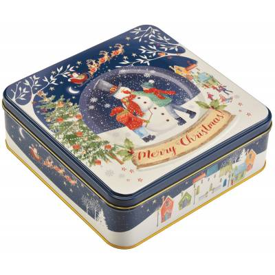 Snow Globe Christmas Assorted Biscuits Tin