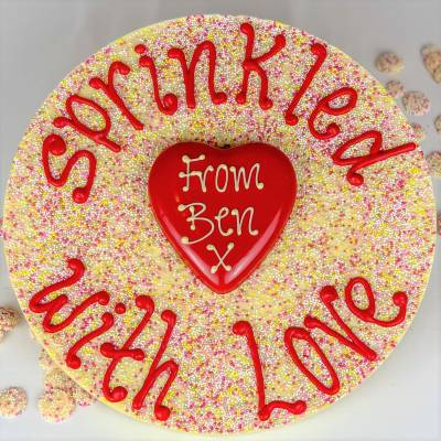 Personalised Giant 1.7KG Love Heart Jazzie