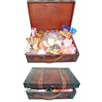 Antique Wooden Sweet Suitcase