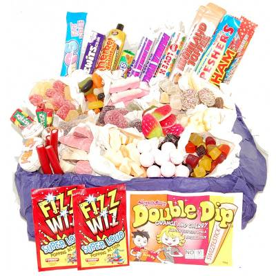 Fathers Day Super Deluxe Retro Sweets Gift - Funkyhampers Gifts