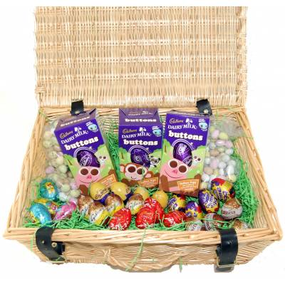 Luxury fairtrade organic chocolate easter egg hampers the super easter mix hamper negle Choice Image