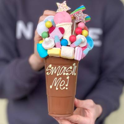 Personalised Belgian Chocolate Sweet Smash Cup
