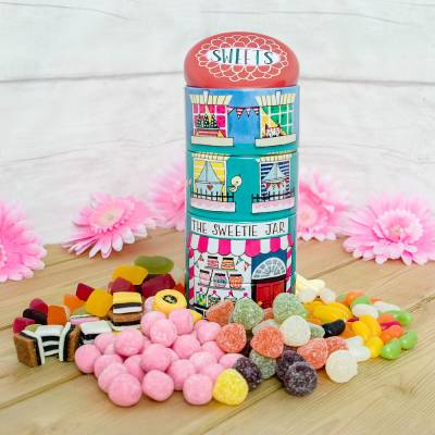 Stackable Sweet Tins Filled With Sweets