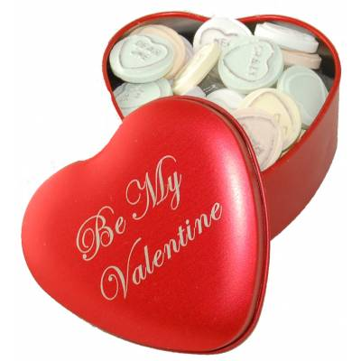 Be My Valentine Love Hearts Tin