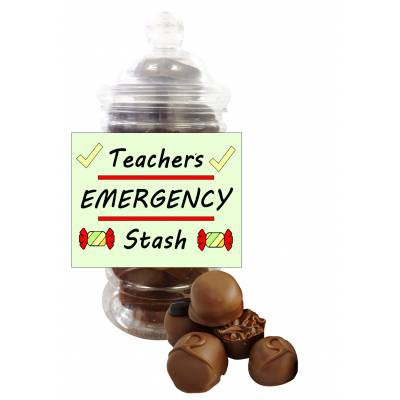 Teachers Stash Belgian Chocolate Jar