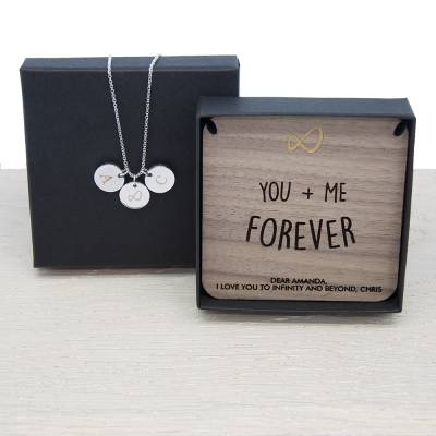 Personalised Infinity Necklace And Keepsake