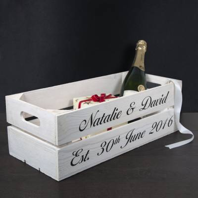 Personalised Wedding Crate