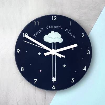 Sweet Dreams Personalised Wall Clock