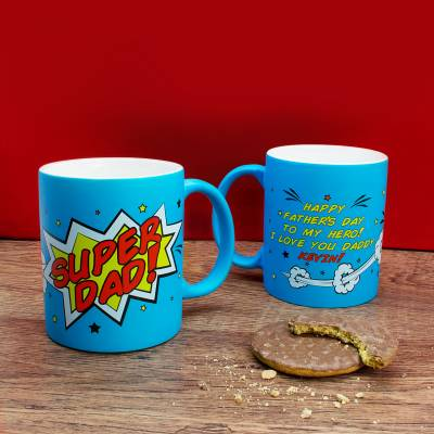 Personalised Super Dad Mug
