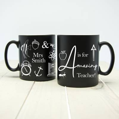 Personalised A is for Amazing Teacher Mug