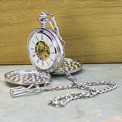 Personalised Dual Side Pocket Watch