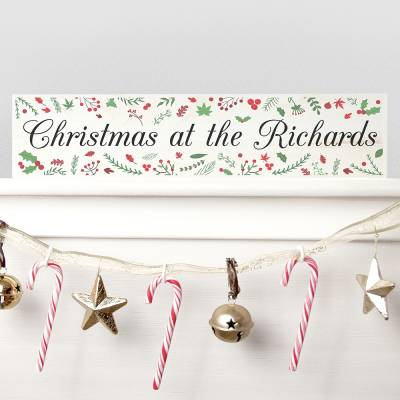 Personalised Christmas Mantle Decoration