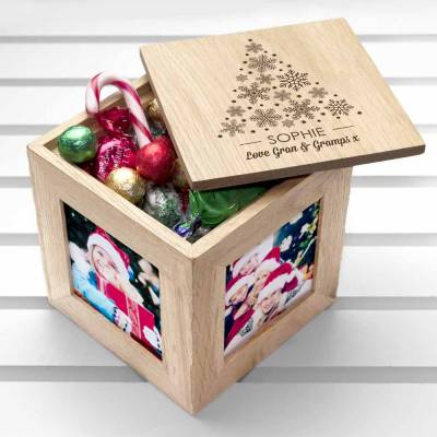 Personalised Christmas Photo Cube and Treats