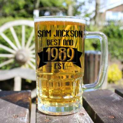 Personalised Best Dad Beer Tankard - Beer Gifts