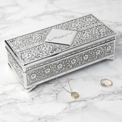 Personalised Silver Trinket Box - Funkyhampers Gifts