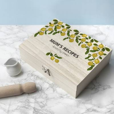 Personalised Lemon Grove Recipe Box