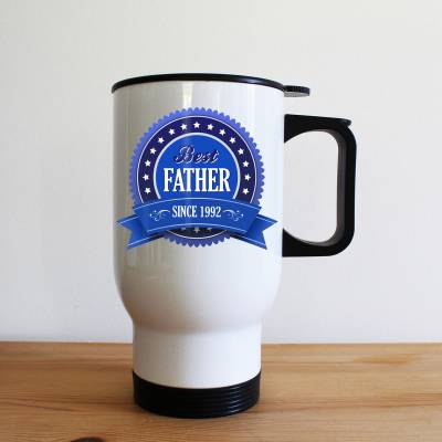 Personalised Best Father Travel Mug