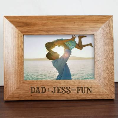 Personalised Fun with Dad Engraved Photo Frame - Fun Gifts