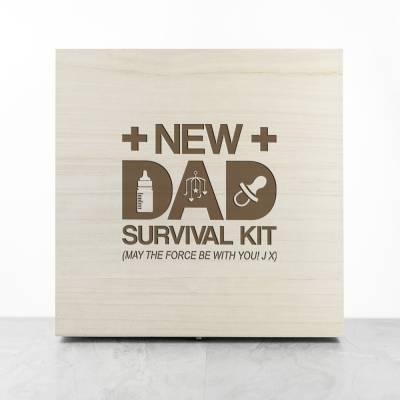 Personalised New Dad Survival Kit Box