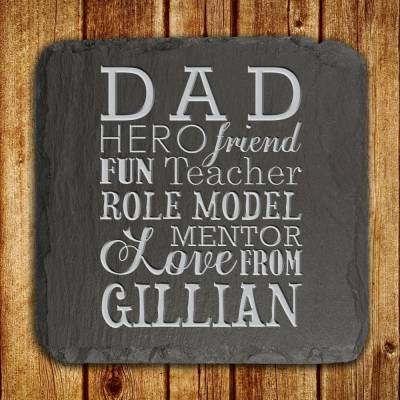 Personalised What Dad Means Slate Keepsake