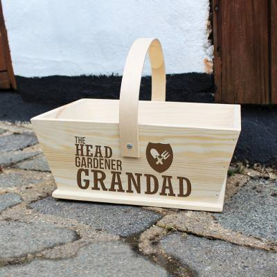Personalised Head Gardener Trug