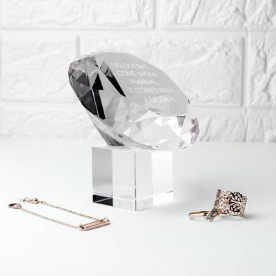 Personalised Clear Diamond Paper Weight