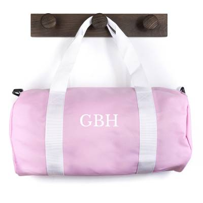 Personalised Pink Barrel Gym Bag