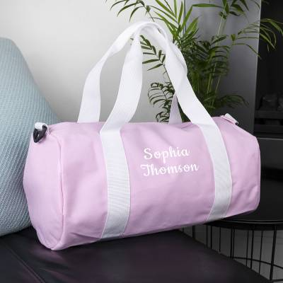 Personalised Kids Pink Gym Bag