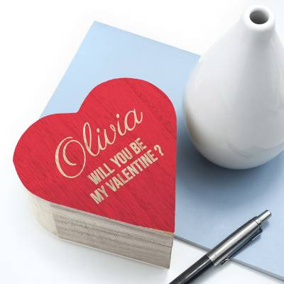 Personalised Valentines Trinket Box