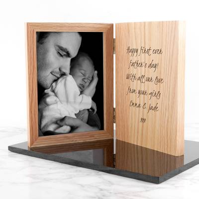 Personalised Engraved Photo Book Frame