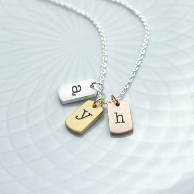 Personalised Mini Tags Necklace
