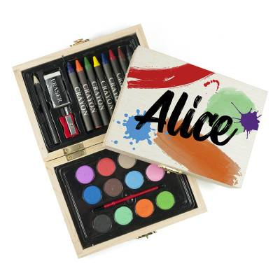 Personalised Colour Splash Colouring Set