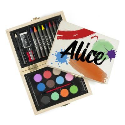 Personalised Colour Splash Colouring Set