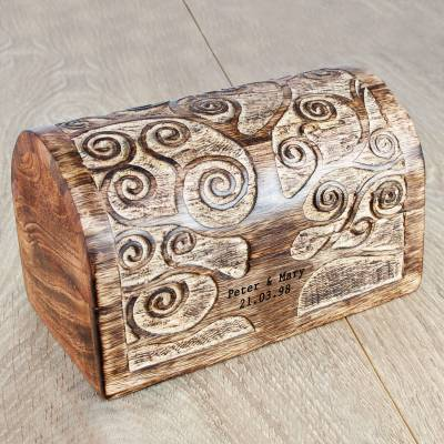 Personalised Lets Grow Old Together Tree Wooden Box