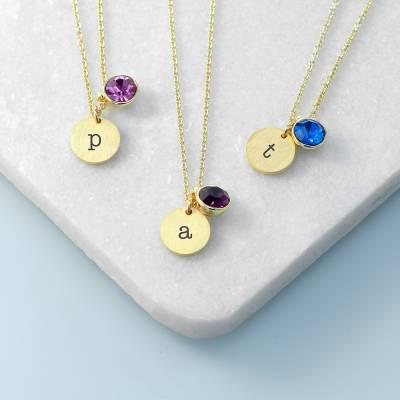 Personalised Birthstone Crystal Necklace