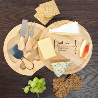 Personalised Definition Cheese Board Set