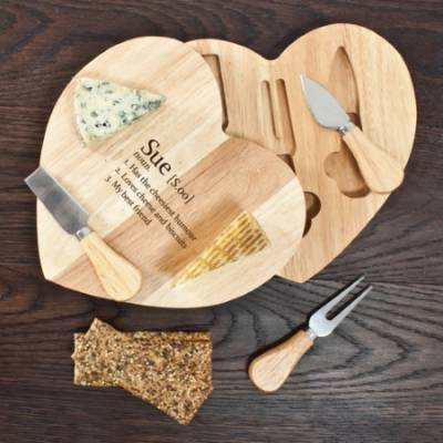 Personliased Definition Heart Cheese Set