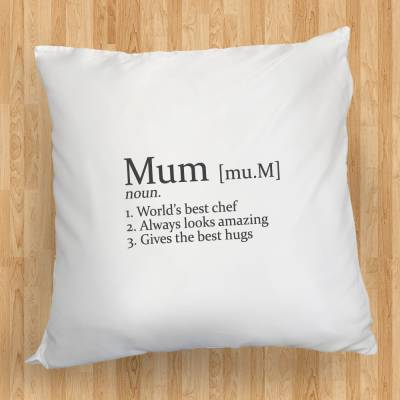 Click to view product details and reviews for Personalised Definition Cushion.